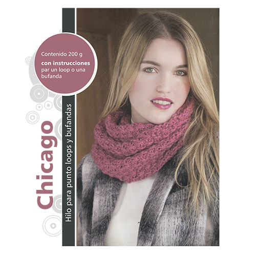 """Пряжа Набор для вязания шарфа """"Chicago"""" 4 х 50 гр 4 х 49 м (62% полиакрил, 38% шерсть) (красный)"""