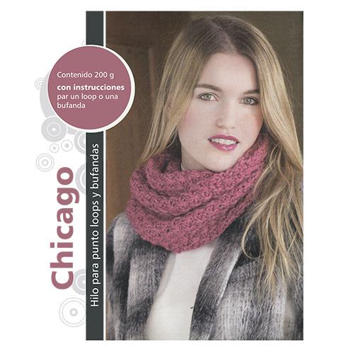 "Пряжа Набор для вязания шарфа ""Chicago"" 4 х 50 гр 4 х 49 м (62% полиакрил, 38% шерсть) (синий)"