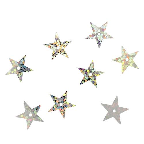 """Пайетки """"звездочки"""" 13мм, 10г (50112 серебро голограмма)"""