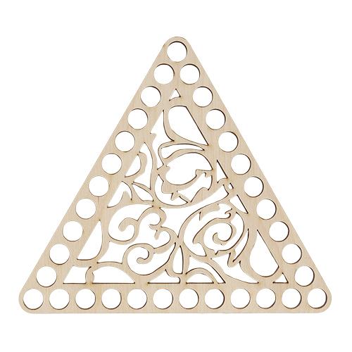 Деревянные заготовки L-1016 Деревянная заготовка Крышка Треугольник 160*160*160*4мм