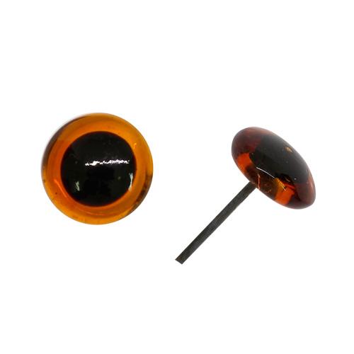 Аксессуары для кукол 5AS-024 Глаза кукольные стеклянные 10мм, цена за 1 пару (т.коричневый)