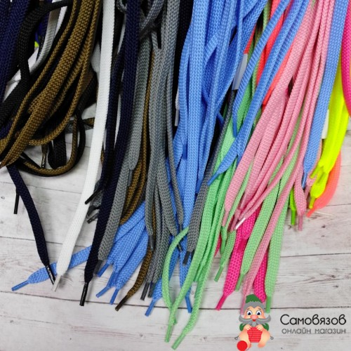 Шнурки обувные цветные (100см). Цена указана за 1 пару.