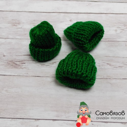 Аксессуары для кукол 3AS-098 Шапочки для игрушек, 4см, (зеленый), цена за 1 шт