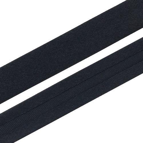 Текстильная галантерея Косая бейка 15мм 0000-1500 (6122/2198 сине-черный) Цена за 10см