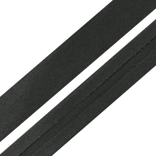 Текстильная галантерея Косая бейка 15мм 0000-1500 (6141 т.серый) Цена за 10см