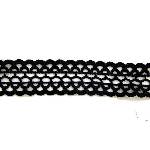 Кружево Вязаное LACH-1105 33мм*13,71м (черный)