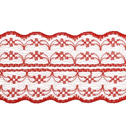 Кружево 1AS-001 на сетке 4,5см*25м (красный)