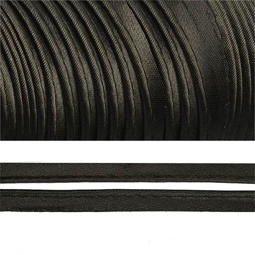 Аксессуары для шитья Кант атласный 12мм*65,8м (Е) (5081 черный)