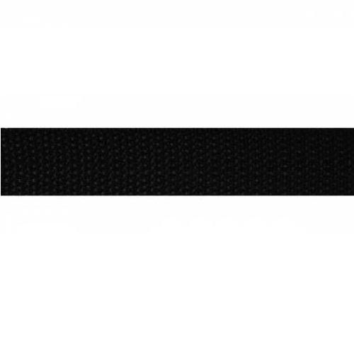 Фурнитура Лента ременная 25мм, черный. Цена указана за 10 см