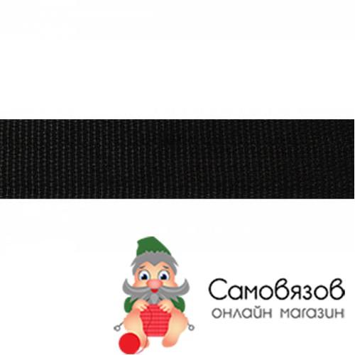 Фурнитура Лента ременная 30мм, черный. Цена указана за 10 см