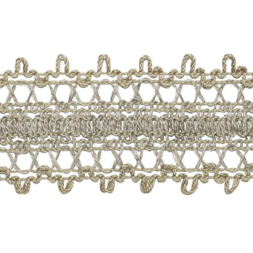 Тесьма р60004 отделочная 30мм*25м (хлопок 25 %, лен 53%, полиэфир 22%) двухстор. (льняной)