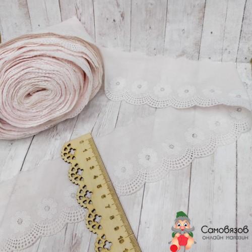 Кружево Шитье бл.розовое, хлопок, ширина 6,5 см
