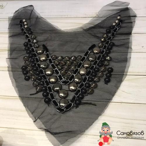 Декоративные элементы Вставка треугольная черный металл
