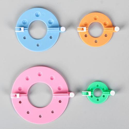 Аксессуары для вязания Набор приспособлений для изготовления помпонов, d = 9 / 7 / 5,5 / 3,5 см, 4 шт, цвет МИКС