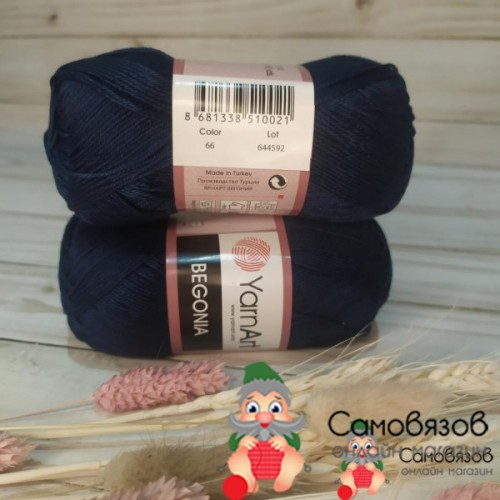 Пряжа 0066 тем синий
