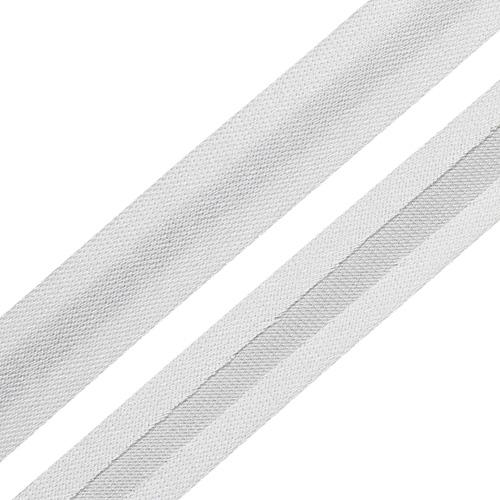 Текстильная галантерея Косая бейка 15мм 0000-1500 (6002/2002 белоснежный) Цена за 10см