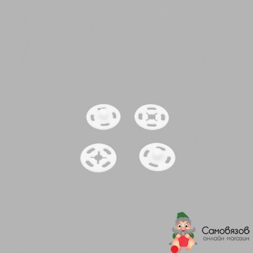Кнопки 27450 CSC 13мм пришивные пластик на блистере, белый (цена за 1 кнопку)