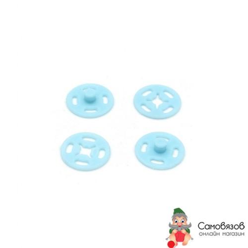 Кнопки 27455 CSC 13мм пришивные пластик на блистере, голубой. Цена за 1 кнопку