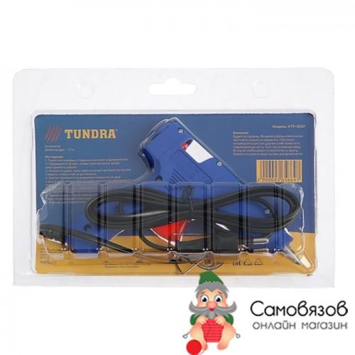 Клей Клеевой пистолет TUNDRA, 20 Вт, 220 В, выключатель, индикатор, антикапля, 1.2 м, 7 мм