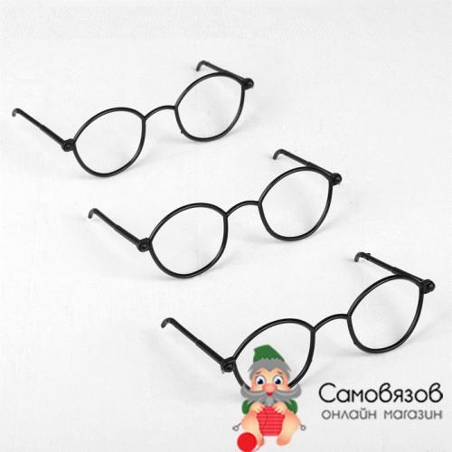 Аксессуары для кукол Очки для игрушек без стекла, цвет чёрный (цена за 1 шт)