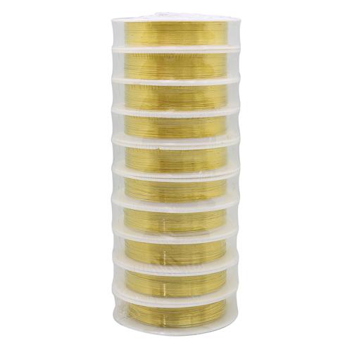 Фурнитура для бижутерии Проволока медная 0,25мм*10м (золото)