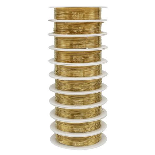 Фурнитура для бижутерии Проволока на катушке 09Е04, 0215-2550 d0,3мм *10м, (золото)