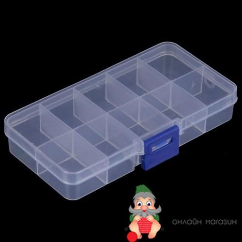 Контейнер Бокс для хранения мелочей или бисера 10 отделений
