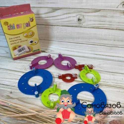 Аксессуары для вязания Набор для изготовления помпонов Zhi Nu Pai 4size (4 размера)