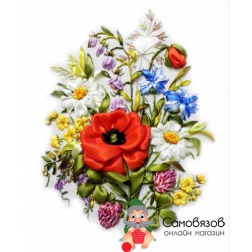 """Творчество Набор Вышивка лентами """"Полевые цветы"""""""