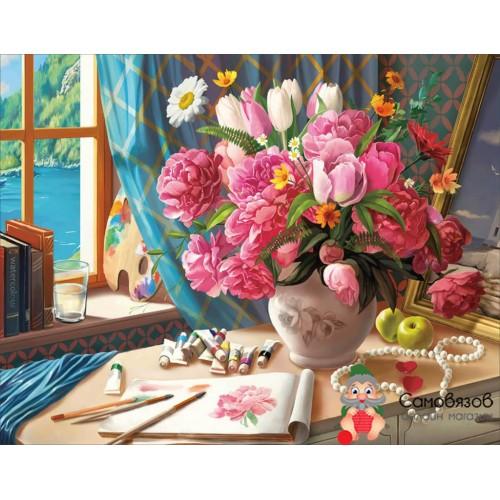 Творчество Алмазная мозаика «Рабочий стол художника» 40x50см.