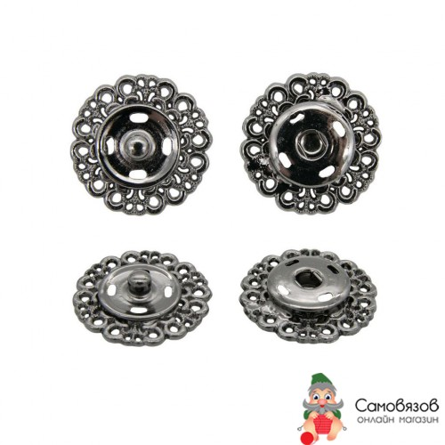 Кнопки пришивные ГЖ2722 Кнопка пришивная 23мм (черный никель)
