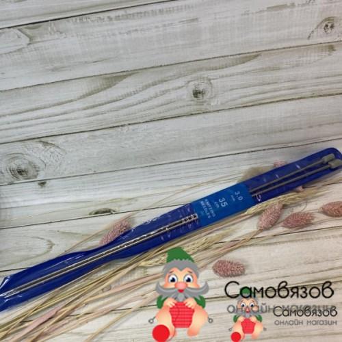 Спицы для вязания Спицы прямые металлические № 3,0 длина 35см