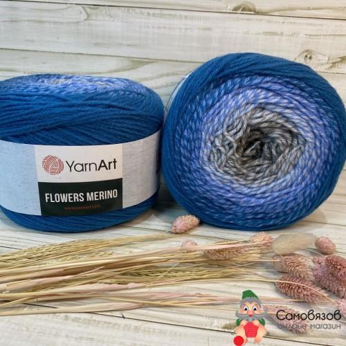 Пряжа 540 сине-серый