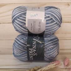 Пряжа 1267 бело-голубой