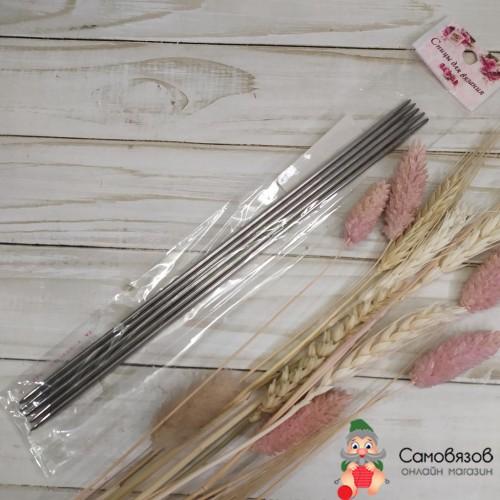 Спицы для вязания 64RO-20072 Спицы чулочные 5 шт, d = 3 мм, 24 см
