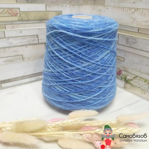 Пряжа sock printing 517 (сине-голубой)