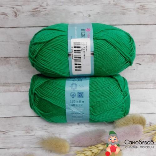 Пряжа Нежная (480 зеленый)
