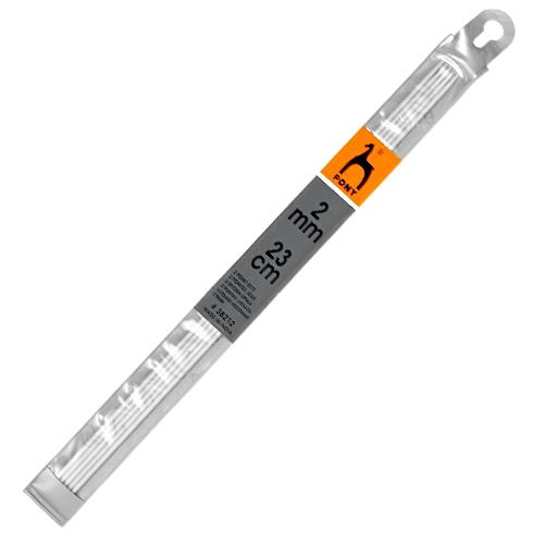 Спицы 38212 носочные алюминий 2,0мм*23см PONY