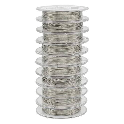 Товары для изготовления бижутерии Проволока на катушке 09Е04, 0215-2550 d03мм *10м (серебро)