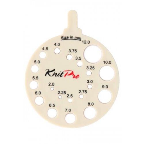 Линейка круглая для определения номера спиц пластик бежевый