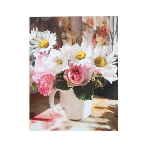 """Папетроль Объемная картина """"Букет ромашки и розы"""" 14*19"""