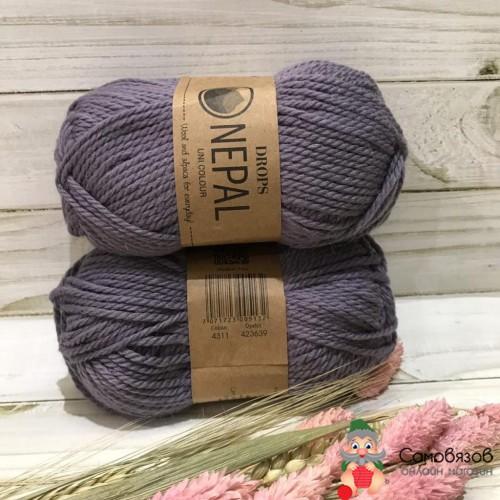 Пряжа 4311 серый-фиолетовый
