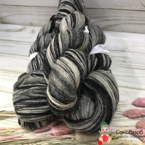 Пряжа Black-white (Черно-белая) 100 гр