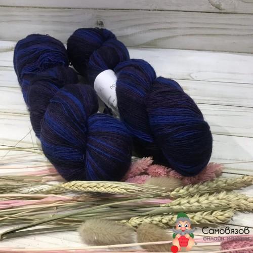 Пряжа Blue (т. синий с синем) 120 гр