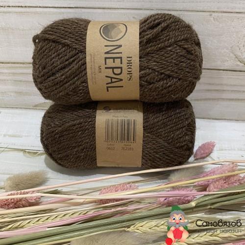 Пряжа 0612 коричневый