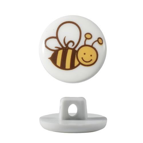 Пуговицы Пуговицы Пчелка, 15мм (QN053-W1)