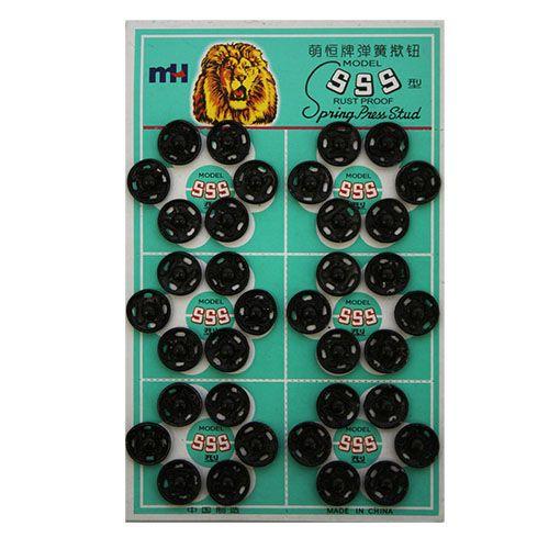 Фурнитура Кнопка пришивная PBM-2 мет. 12мм 0300-5100 черный