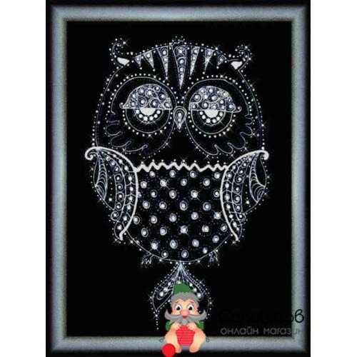 Набор для творчества Картина стразами Ночная птица
