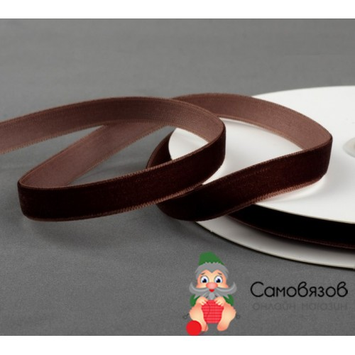 Лента Лента бархатная, 10 мм, 18±1 м №70 цвет коричневый