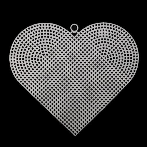 Канва Канва пластик сердце 168мм*145мм